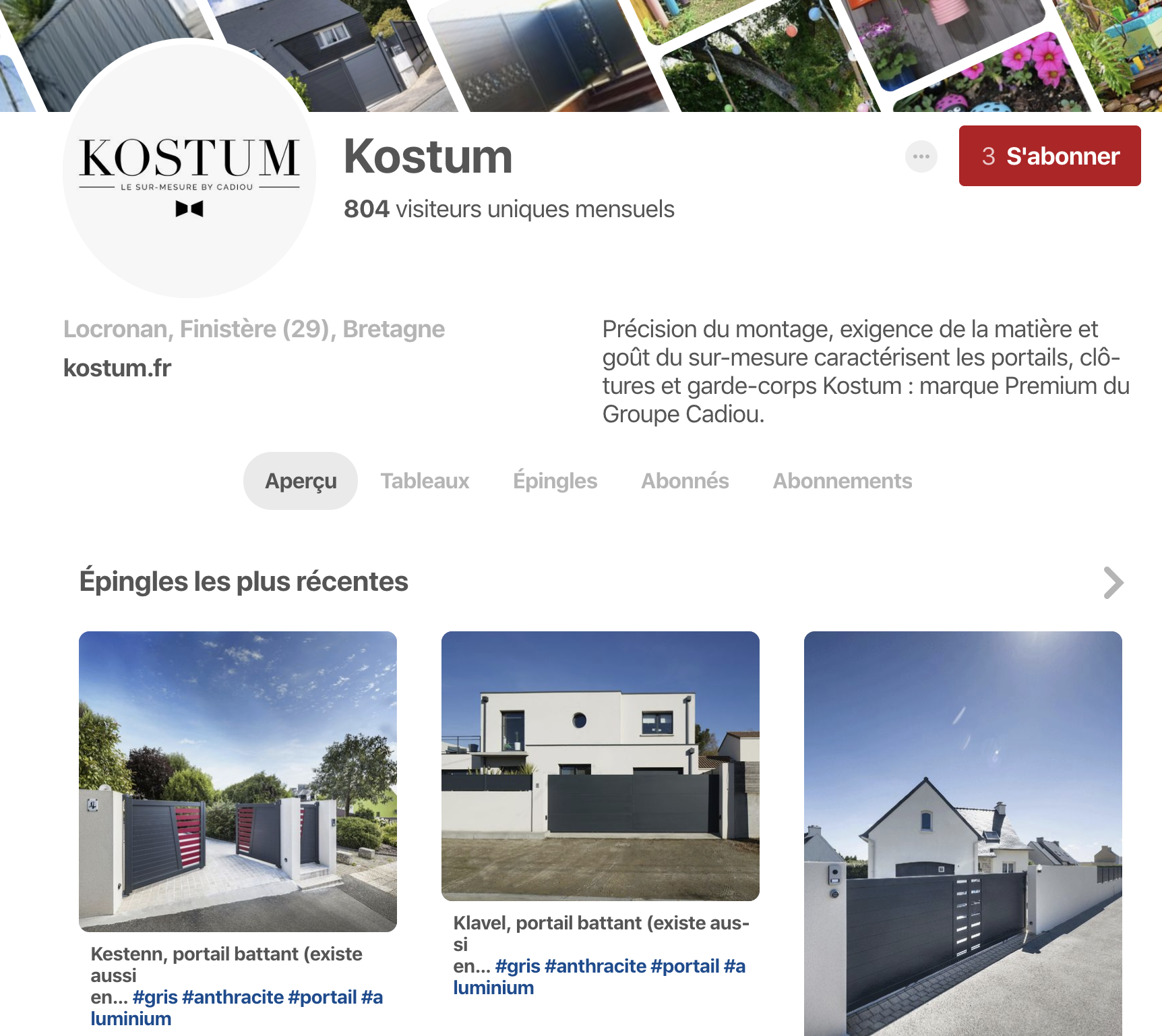 Kostum site internet