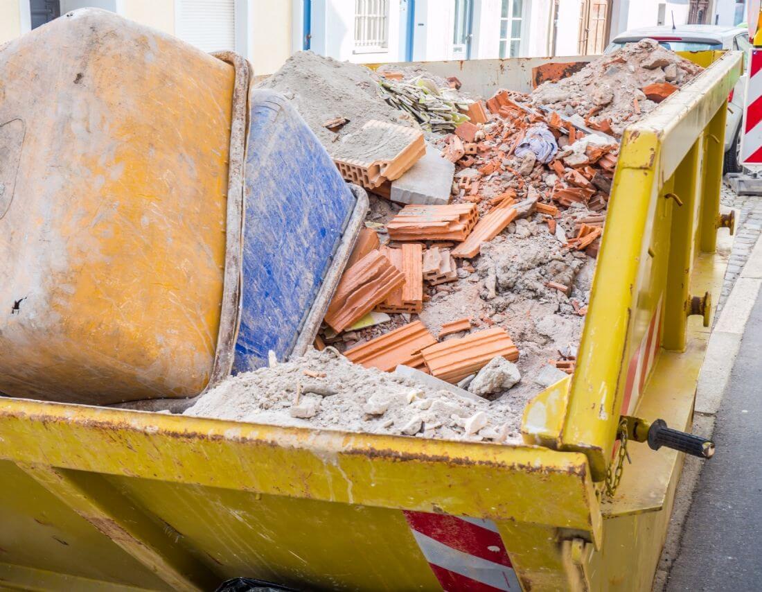 benne de collecte pour déchets de chantier