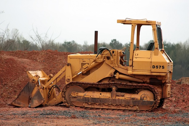 Bulldozer en action
