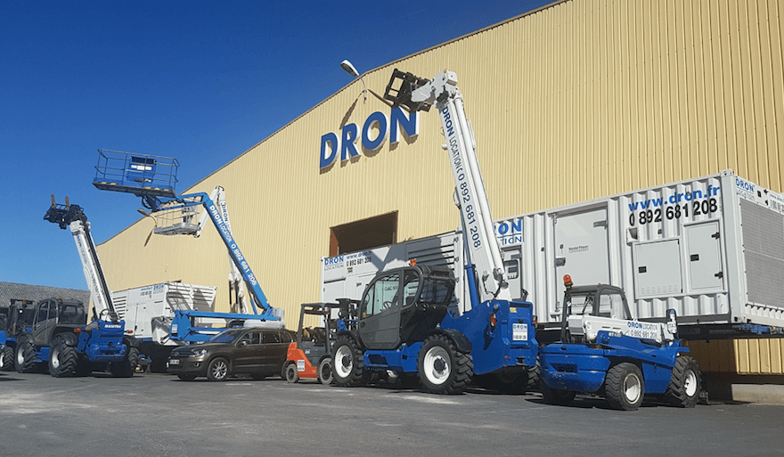Dron engins de chantier